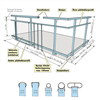 Weland balkongräcke Standard, principskiss