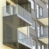 Weland balkongplattor, räcke och sidoskärm av aluminium
