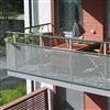 Weland balkongräcke, av perforerad plåt