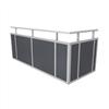 Weland balkongräcke, Laminatskiva