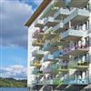 Weland balkongräcke Standard, glas