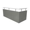 Weland balkongräcke, Liggande profilerad plåt