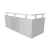Weland balkongräcke, Diagonal profilerad plåt