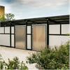 Miljöstation för källsortering med metall dörrar