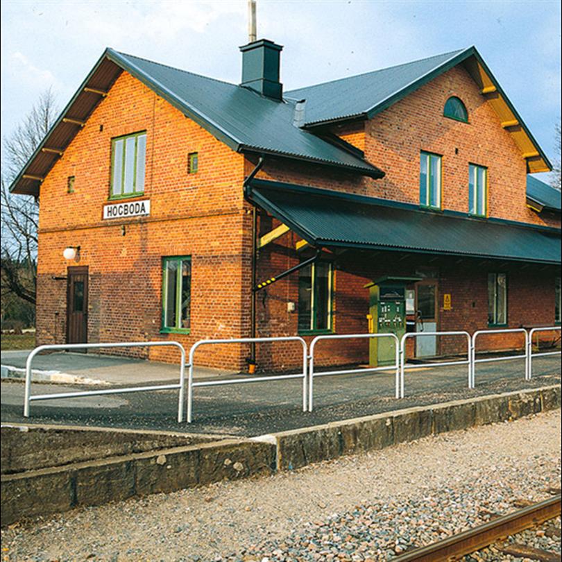 Weland modulräcken vid Högboda tågstation
