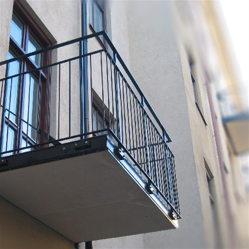 Stockholm balkongräcke, fribärande räcken