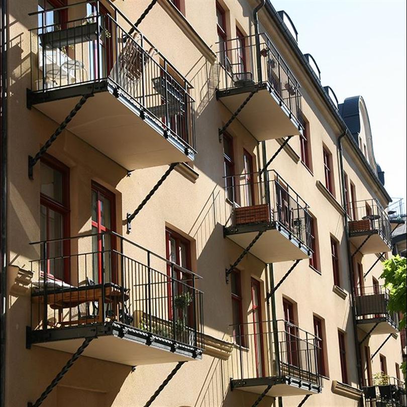 Weland balkongräcken Stockholm