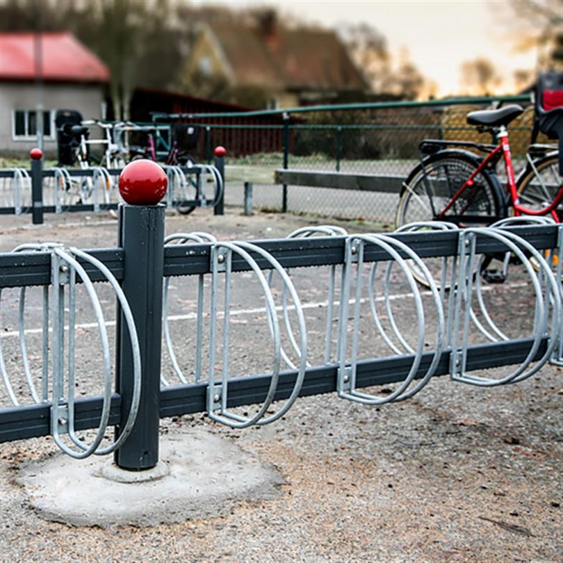 Cykelställ med dubbla parkeringsplatser