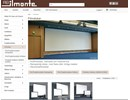 Ilmo film-/projektionsdukar, ramspända på webbplats