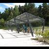 Edge cykeltak, pulpettak med glas, glasväggar, Smekab