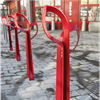 Smekab Citylife cykelpollare Löv, röd