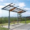 Smekab väderskydd Regio med platt tak