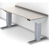 Arbetsbord Medicline 946 stålplåt, uppvikt bakkant
