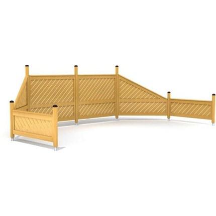 HAGS vindskydd/pergola och staket