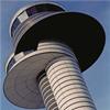 Strängbetong betongfasader, Flygledartornet, Arlanda flygplats