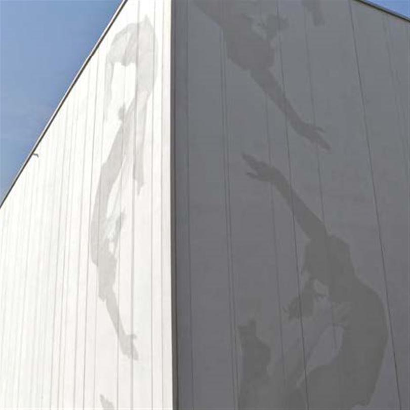 Strängbetong Grafiska betongfasader