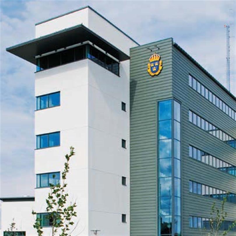 Strängbetong Klingskurad och Vukoborstad betong, Polishuset, Helsingborg