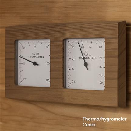 Thermo/hygrometer i Ceder eller natur asp