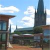 Sedumtak på Lindköpings bibliotek