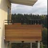 Alnova Adapt balkongräcke med träfyllning