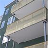 Alnova Metal Perfo balkongräcken i guldkulör