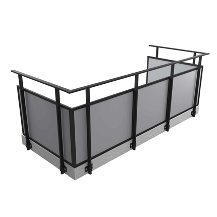 Alnova Adapt balkongräcke