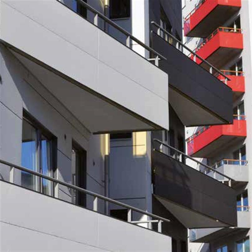 Alnova Disc balkongräcken triangulär