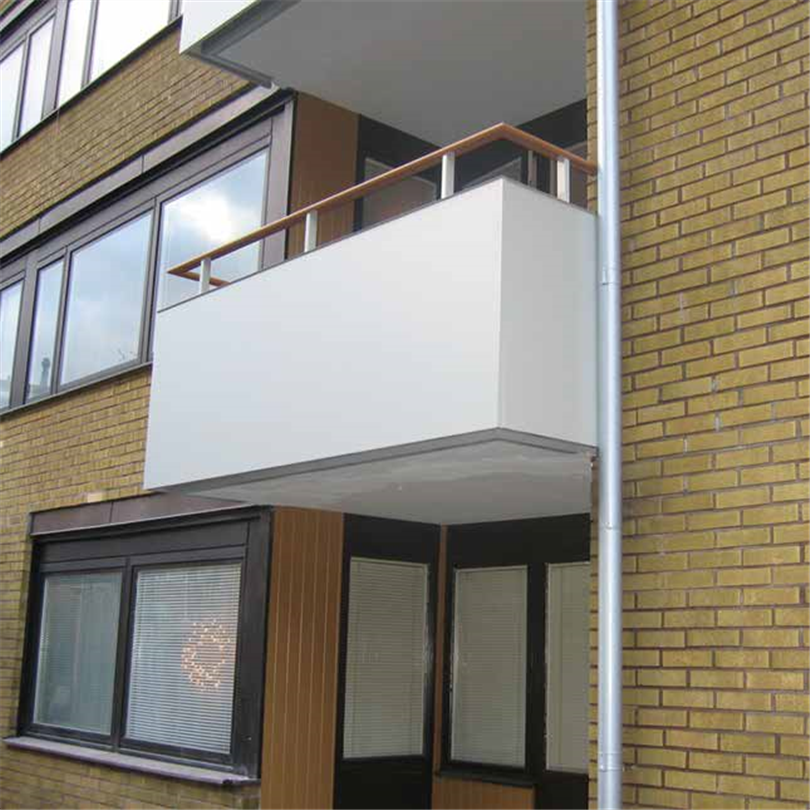 Alnova Disc balkongräcke vit