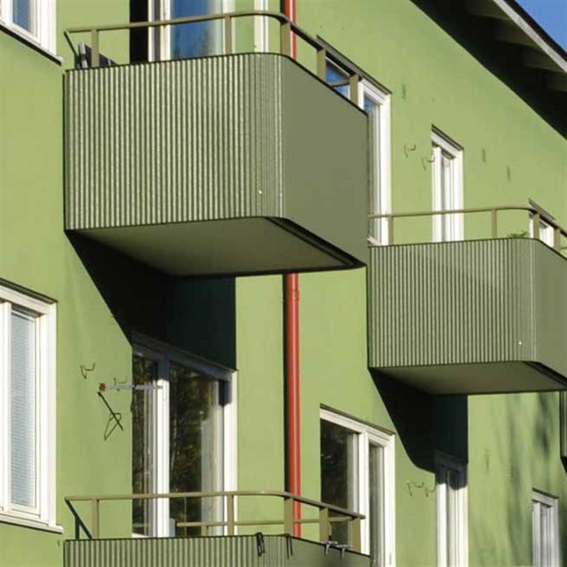 Alnova Retro balkongräcken grön