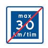ATA anvisningsmärke, E12-3 Rekommenderad lägre hastighet upphör