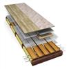 LK Värmefördelningsplåt i glespanel - förläggning i träbjälklag