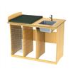 Björk golvskötbord med tvättho