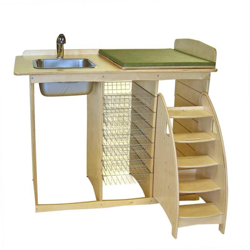 Skötbordsspecialisten Skötbord Björk med Tvättho