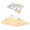 HERADESIGN® Ceiling Raft akustikskivor, skiss 3D