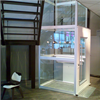 Kalea A4 Primo Plattformshiss, schakt med glas på 4 sidor samt ramp