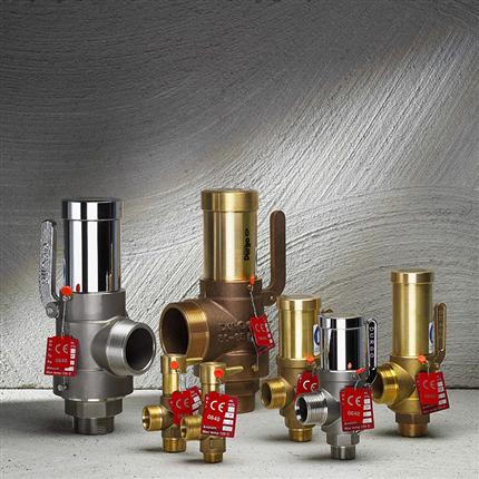Durgo säkerhetsventil 4165 / överströmningsventil 4166 i rostfritt stål