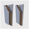 Visitek strålskyddsskivor på dubbel och enkel stålregelstomme