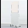 Visitek WD257 mobil, strålskyddande skärmvägg med nedfällbart glas