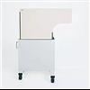 Visitek WD302 höjdjusterbar, mobil, konturformad, strålskyddande skärmvägg med