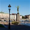 JOM Sverigestolpen lyktstolpe, Strömparterren, Stockholm