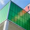Isolerande fasadsystem, semitransparant fasad