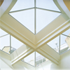 Isolerande glaspyramider, generöst ljusinsläpp, laminerat energiglas