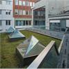 Isolerande glaspyramider i Nacka, generöst ljus insläpp, laminerat energiglas