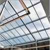 Tvåstegstätande glastaksystem, aluminiumprofiler, passivhuscertifiering