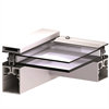 Scanlight Glastaksystem, profilsnitt 2-glas