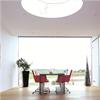 Runt takfönster med plastram, tätt, isolerat, ljudreducerat glas