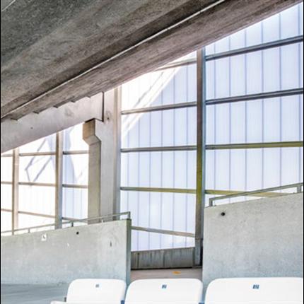 Scanlight Dagsljusfasader, Nya Olympia Arena, Helsingborg