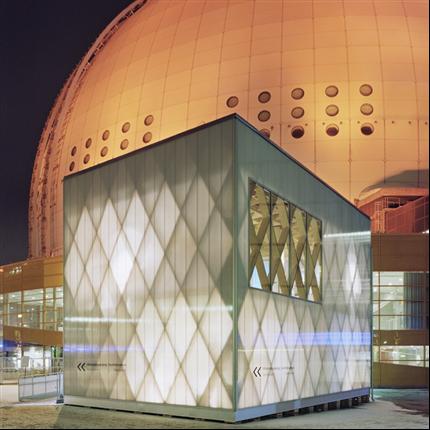 Scanlight Dagsljusfasad, system 540, Globen Stockholm