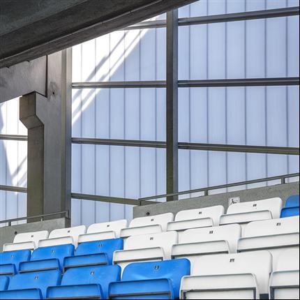Scanlight Fasadsystem 540X, Nya Olympia Arena, Helsingborg
