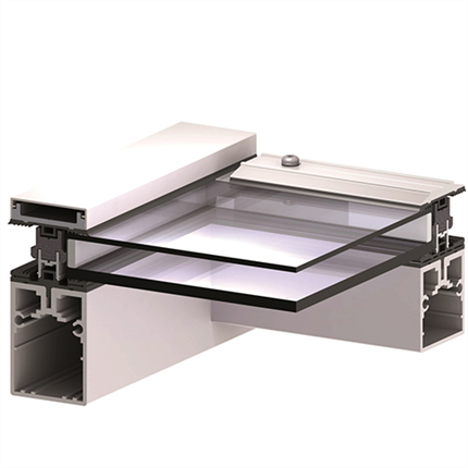 Scanlight Glastaksystem, profilsnitt 2-glas